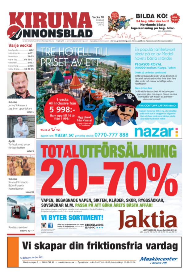 Kiruna Annonsblad, Vecka 10