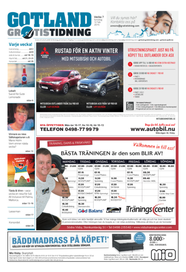 Gotland Gratistidning, Vecka 7